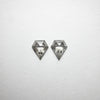 2pc 0.86cttw 6.75x5.64x2.02mm Shield Rosecut Matching Pair 18402-02