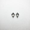 2pc 0.27cttw 4.62x3.28x1.63mm Kite Rosecut Matching Pair 18402-12