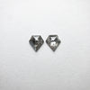 2pc 0.45cttw 4.87x4.60x1.56mm Shield Rosecut Matching Pair 18402-13