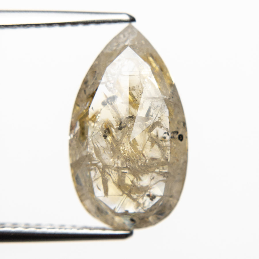 3.59ct 15.30x8.87x3.30mm Pear Rosecut 18550-16
