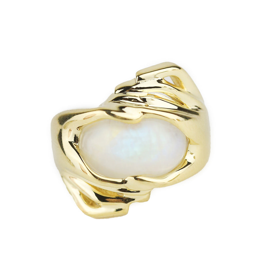 IN STOCK | MOON CONNECTION RING | GOLD VERMEIL & MOONSTONE