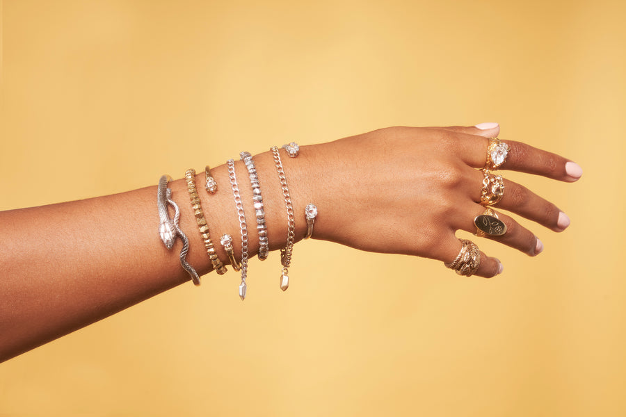 IN STOCK | CLASSIC NUGGET BRACELET | SILVER