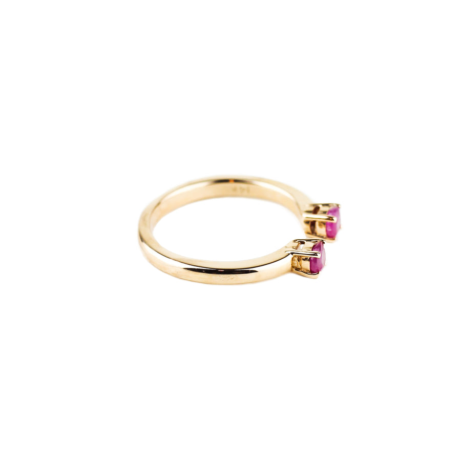 PASSAGE RING | 14K ROSE GOLD & RUBY