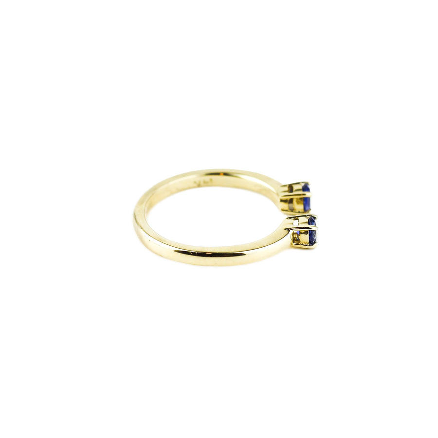 PASSAGE RING | 14k GOLD & SAPPHIRE