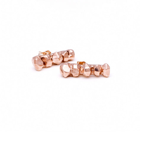 GEM BAR EARRINGS | ROSE GOLD VERMEIL - AngelaMonacojewelry
