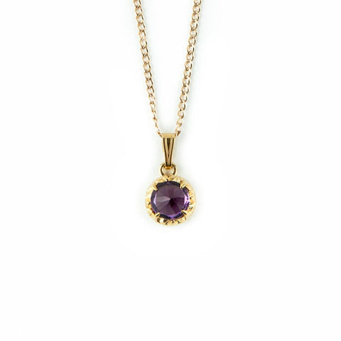 MATRIX HALO NECKLACE | GOLD VERMEIL & AMETHYST - AngelaMonacojewelry