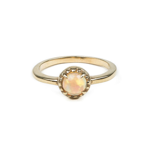 READY TO SHIP | MATRIX HALO RING | GOLD VERMEIL & OPAL - AngelaMonacojewelry