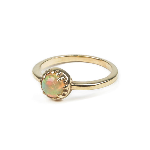 MATRIX HALO RING | GOLD VERMEIL & OPAL - AngelaMonacojewelry