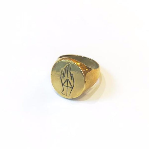 PROTECTION SIGNET RING | GOLD VERMEIL