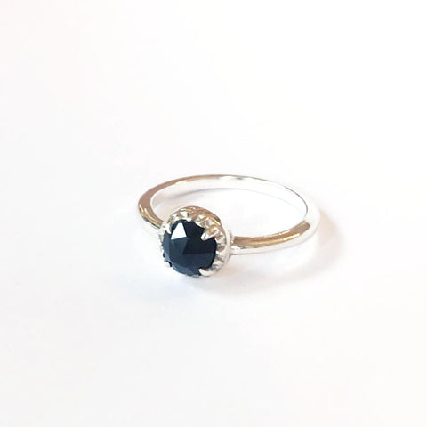 MATRIX HALO RING | SILVER & ONYX - AngelaMonacojewelry