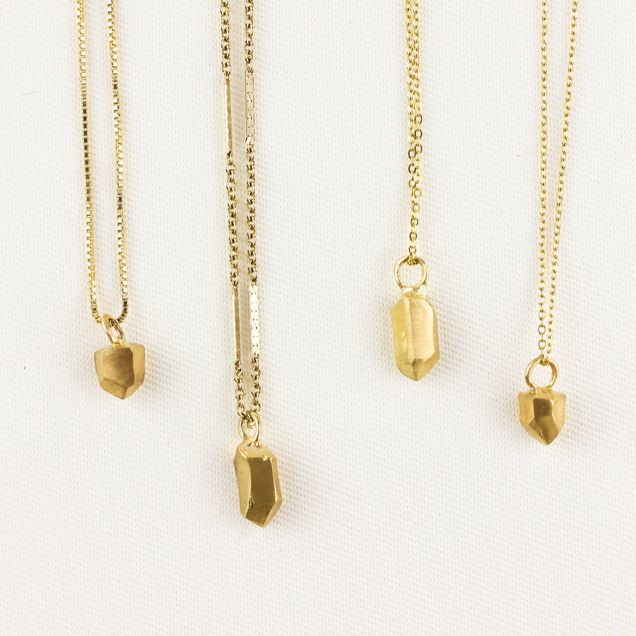 NUGGET CHARM NECKLACE | GOLD VERMEIL