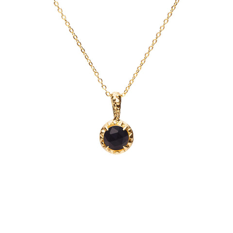 MATRIX HALO NECKLACE | GOLD VERMEIL & ONYX - AngelaMonacojewelry