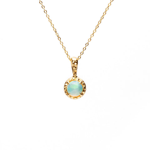 MATRIX HALO NECKLACE | GOLD VERMEIL & OPAL - AngelaMonacojewelry