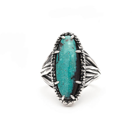 ROOTS TO SEED RING | SILVER & TURQUOISE - AngelaMonacojewelry