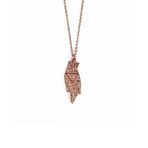 PROTECTION PENDANT NECKLACE | ROSE GOLD VERMEIL - AngelaMonacojewelry