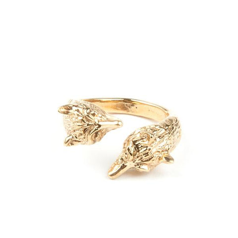 WOLF PACK RING | GOLD animal spirit jewelry
