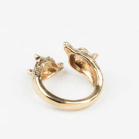 READY TO SHIP | WOLF PACK RING | GOLD VERMEIL - AngelaMonacojewelry