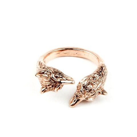 WOLF PACK RING | ROSE GOLD VERMEIL - AngelaMonacojewelry
