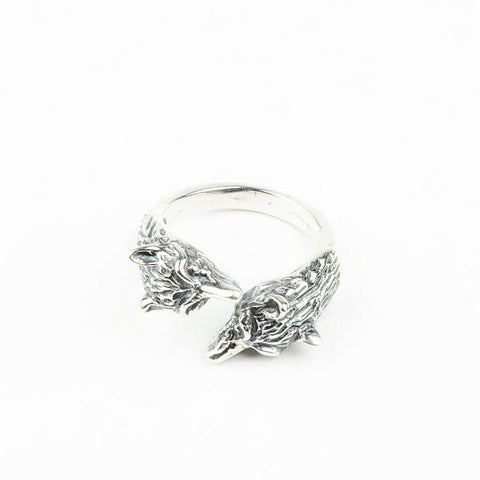 WOLF PACK RING I SILVER - AngelaMonacojewelry