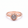 MATRIX HALO BEZEL RING | 14K ROSE GOLD | SALT & PEPPER DIAMOND