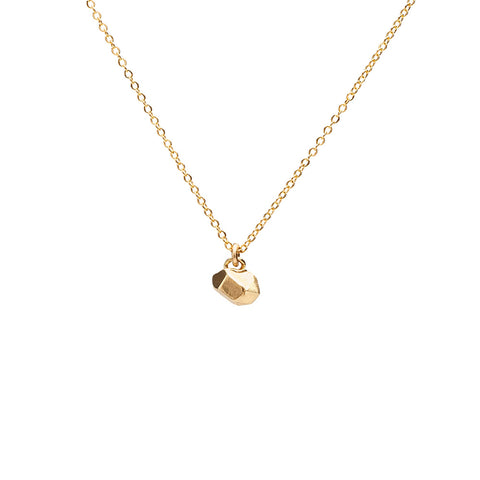CAST CRYSTAL NECKLACE TINY | GOLD VERMEIL