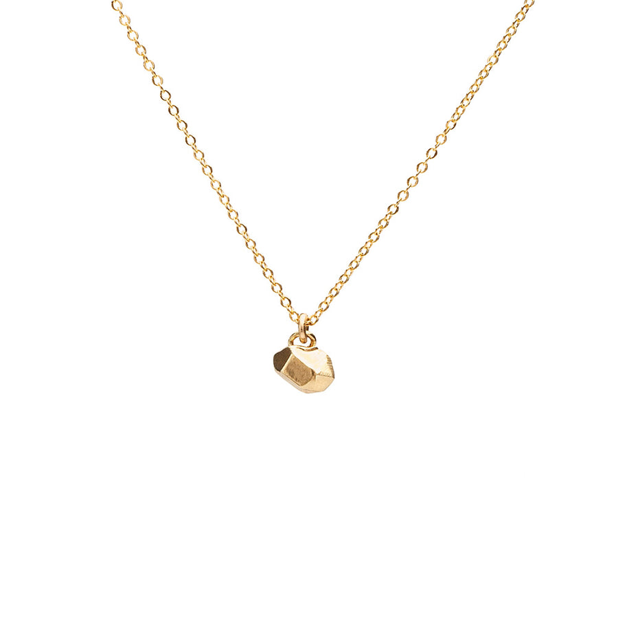CAST CRYSTAL NECKLACE TINY | GOLD VERMEIL - AngelaMonacojewelry