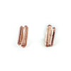 TWIN PEAKS CAST CRYSTAL STUDS | ROSE GOLD VERMEIL - AngelaMonacojewelry