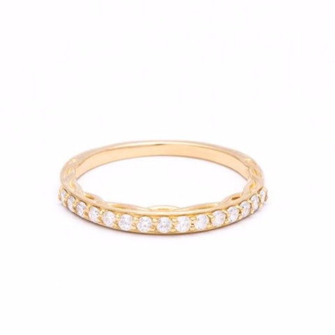 ROOTS CONTOUR BAND | 14K GOLD & DIAMONDS