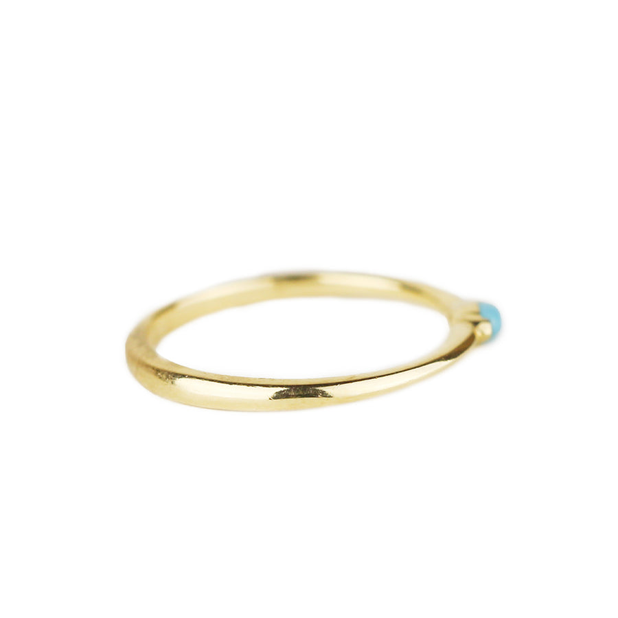 IN STOCK | TURQUOISE MARQUISE RING | 14K YELLOW GOLD