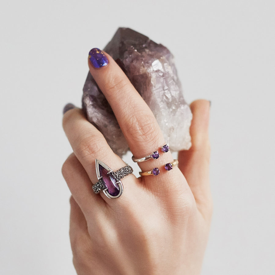 PASSAGE RING | GOLD VERMEIL & AMETHYST