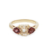 ARTEMIS ENGAGEMENT RING | 14K GOLD & HERKIMER DIAMOND WITH PINK TOURMALINES
