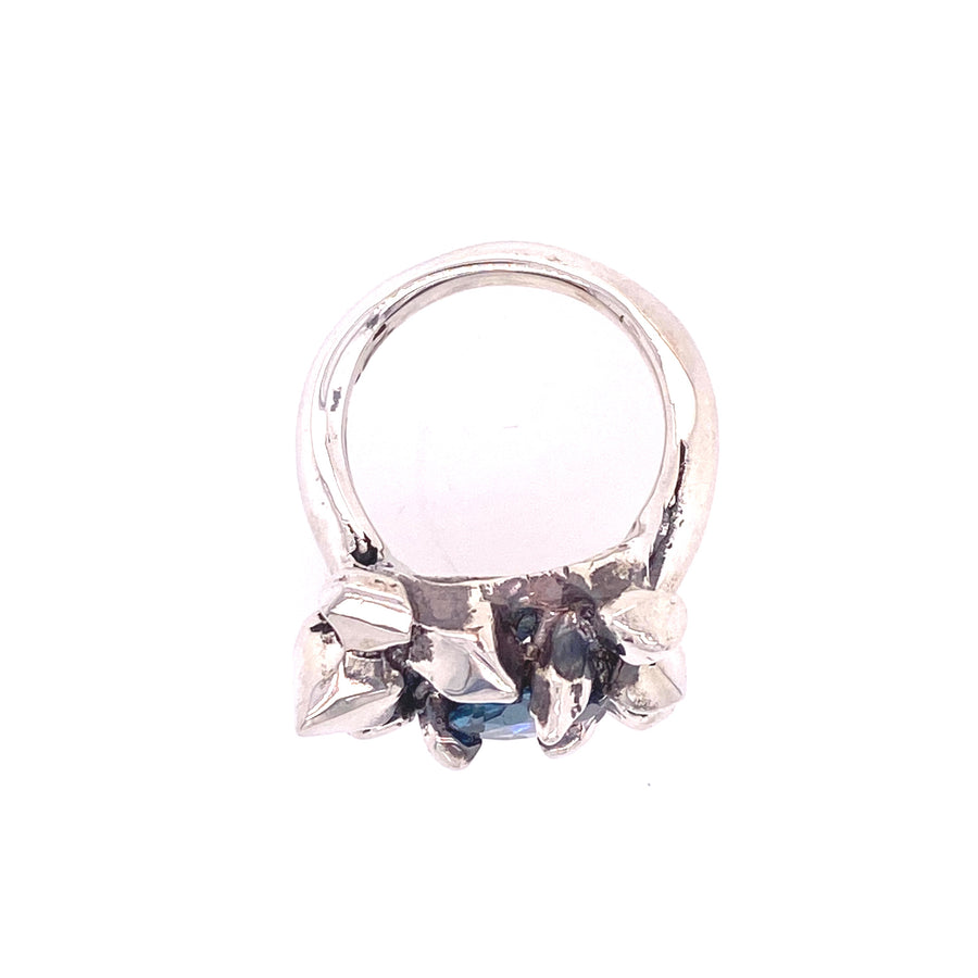 IN STOCK |  ELIXIR COCKTAIL RING | SILVER & BLUE TOPAZ
