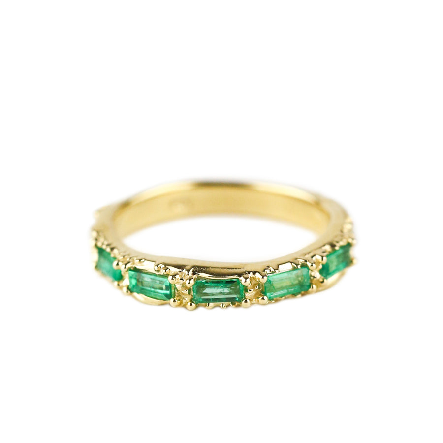 FLOW OF LIFE RING | 14K GOLD & EMERALD