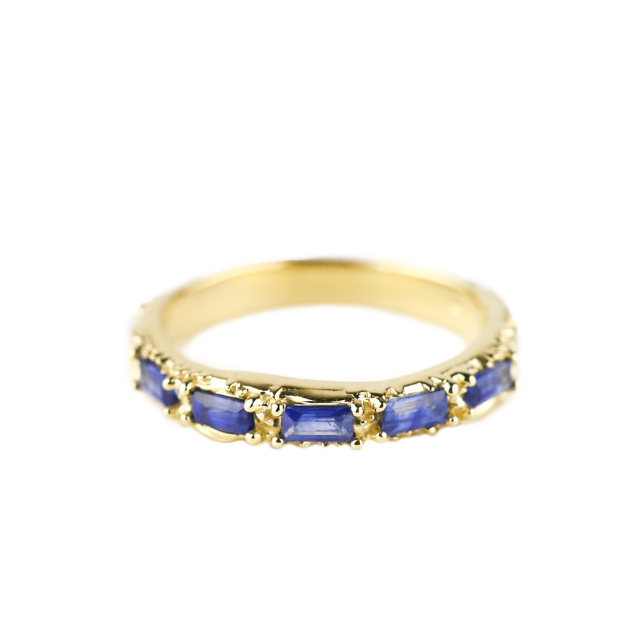 FLOW OF LIFE RING | 14K GOLD & SAPPHIRE