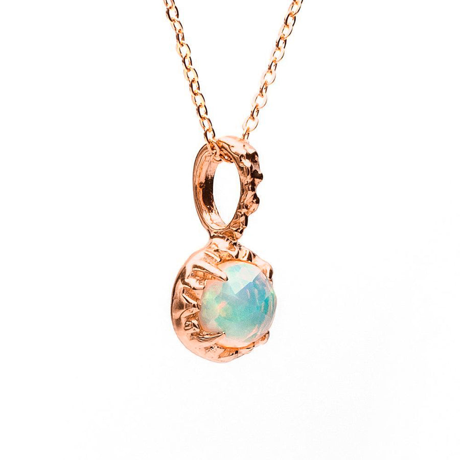 MATRIX HALO NECKLACE | ROSE GOLD VERMEIL & OPAL