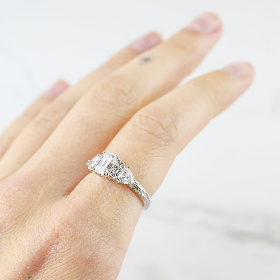 BONADONNA ENGAGEMENT RING | 14K WHITE GOLD & LAB CREATED DIAMONDS