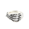 READY TO SHIP | SKELETON HAND RING | SILVER