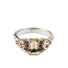 BONADONNA ENGAGEMENT RING | WHITE & ROSE GOLD | MORGANITE & BLACK DIAMOND