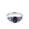 BONADONNA ENGAGEMENT RING | 14K  WHITE GOLD | OMBRÉ BLUE SAPPHIRES