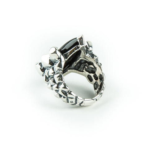 CELESTIAL EYES RING | SILVER & ONYX - AngelaMonacojewelry