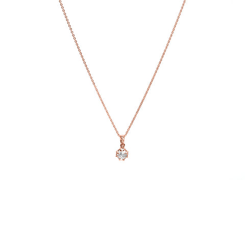 RAW CHARM NECKLACE | ROSE GOLD & HERKIMER - AngelaMonacojewelry