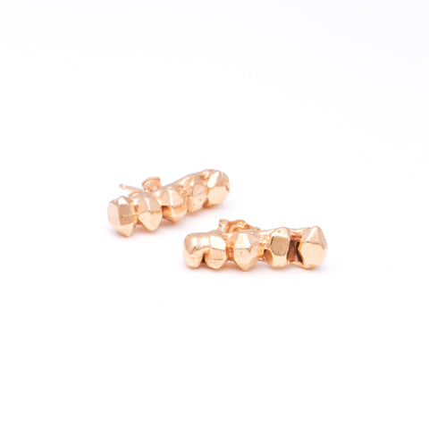 GEM BAR EARRINGS | GOLD VERMEIL