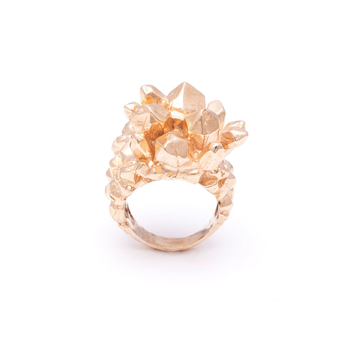 PINEAPPLE CRYSTAL RING | GOLD VERMEIL - AngelaMonacojewelry