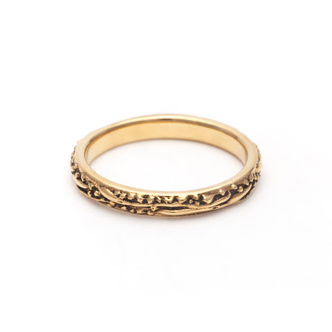 DELICATE MATRX BAND | 14k GOLD - AngelaMonacojewelry