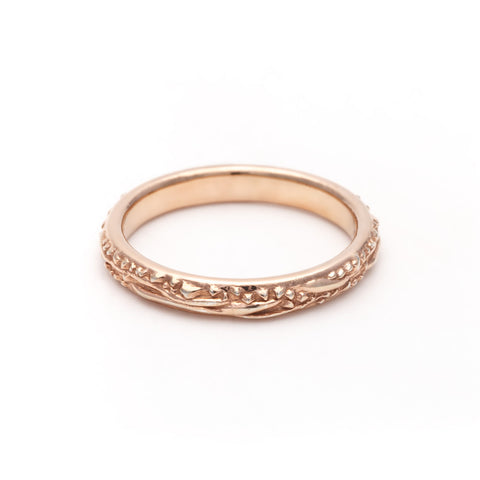DELICATE MATRX BAND | ROSE GOLD - AngelaMonacojewelry