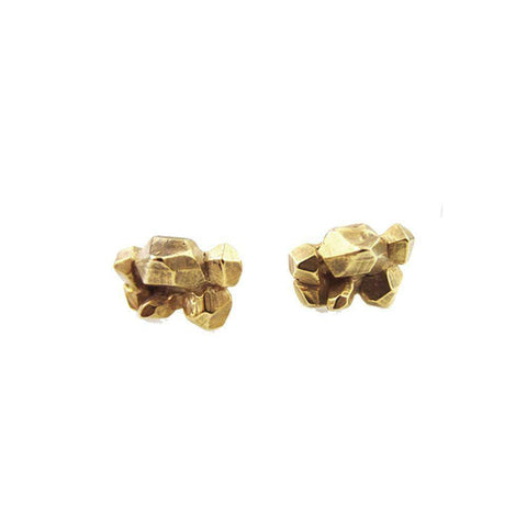 CRYSTALIZED STATEMENT STUDS | GOLD VERMEIL - AngelaMonacojewelry