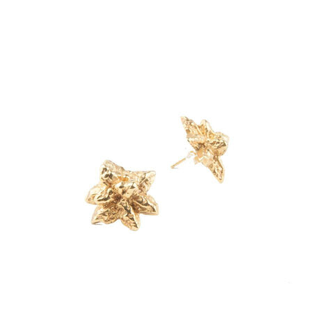 NORTHERN LIGHTS CRYSTAL CAST STUDS | GOLD VERMEIL - AngelaMonacojewelry
