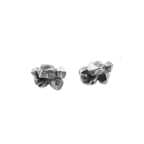 READY TO SHIP | CRYSTALIZED STATEMENT STUDS | SILVER - AngelaMonacojewelry