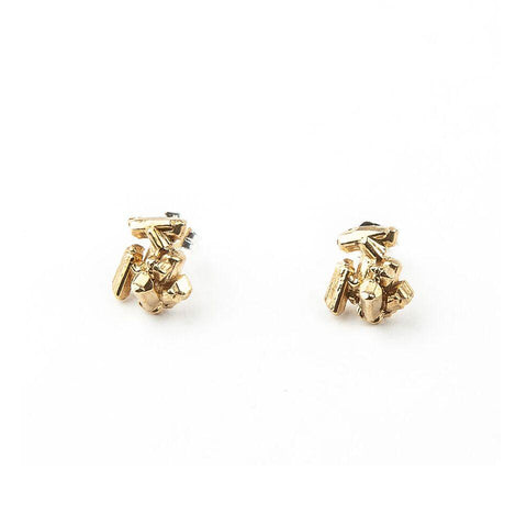 ROCK CANDY CAST CRYSTAL STUDS | GOLD VERMEIL - AngelaMonacojewelry