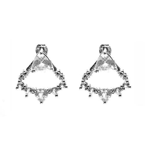 TRILLION CHANDELIER JACKET EARRINGS | SILVER & HERKIMER - AngelaMonacojewelry